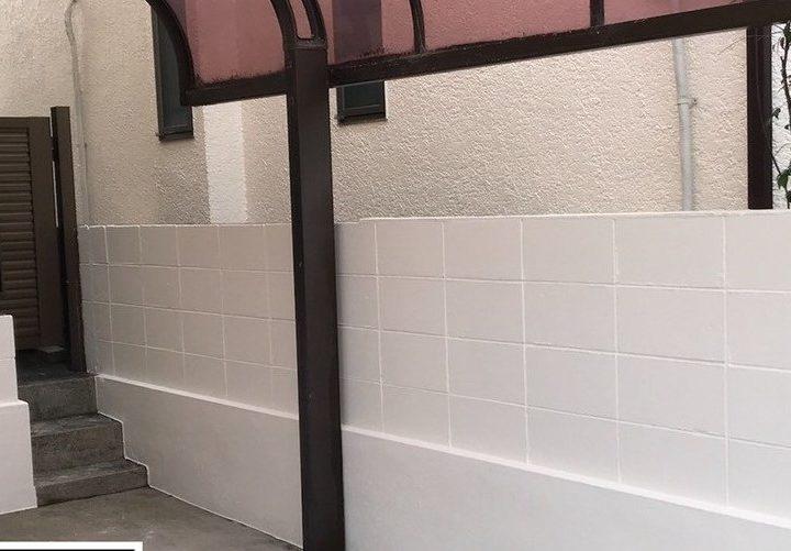 芦屋K様邸の外塀駐車場床塗装・屋根棟包み樋交換工事//兵庫・西宮・芦屋の外壁塗装・屋根塗装ならPaintWall