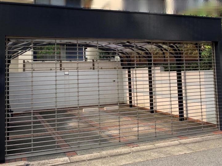 芦屋市H様邸の駐車場シャッター塗装工事//兵庫・西宮・芦屋の外壁塗装・屋根塗装ならPaintWall