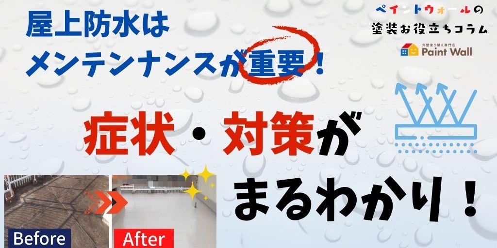屋上防水はメンテナンスが重要!劣化症状・対策がまるわかり【ペイントウォール雨漏りお助けコラム】