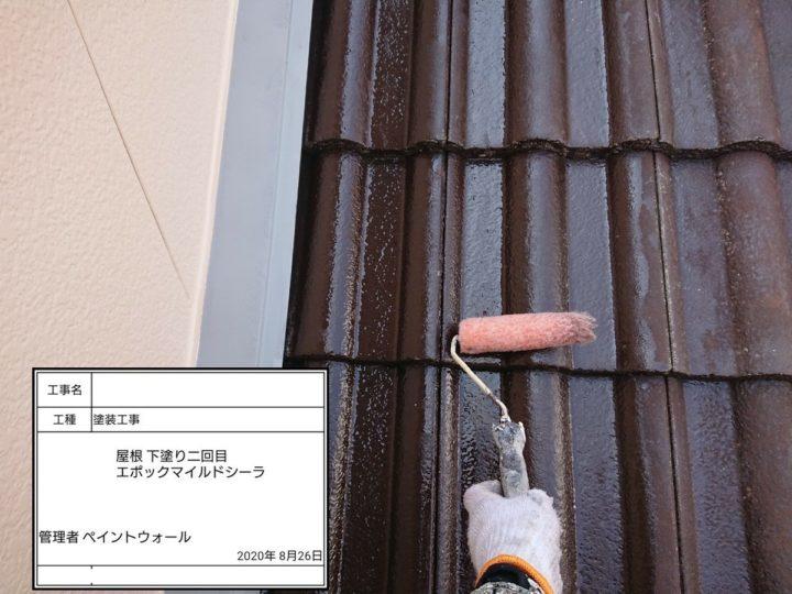 屋根塗装 ③屋根下塗り2回目