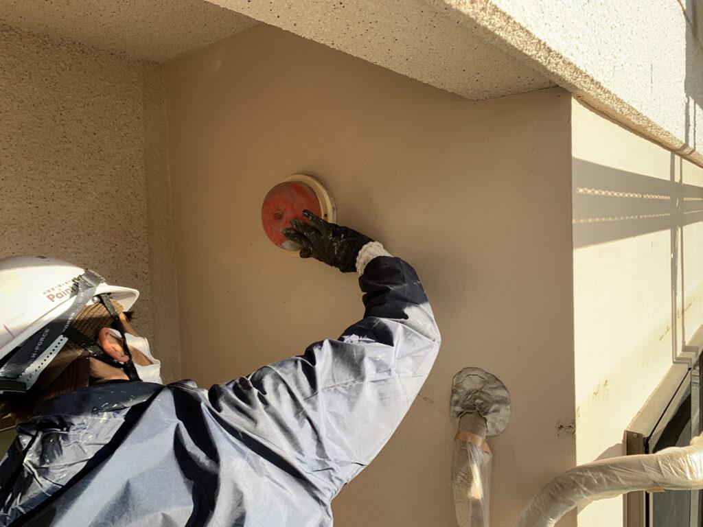 兵庫県、西宮市芦屋市の外壁屋根塗装ペイントウォールの錆止め塗装写真