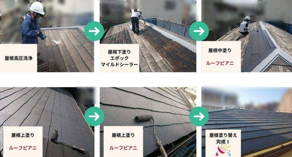 ペイントウォールの屋根塗装