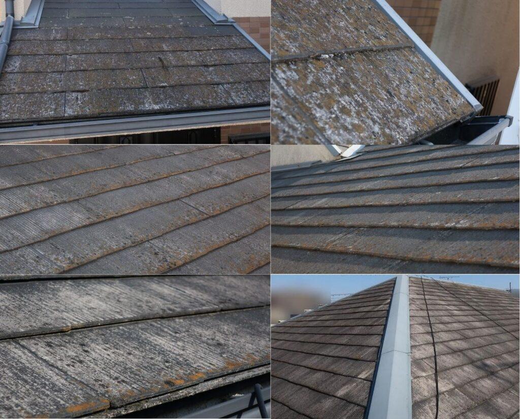 スレート屋根劣化写真